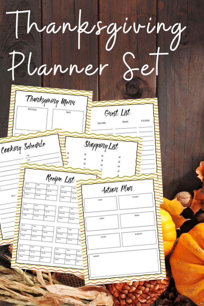 Free Thanksgiving Meal Planner Printables!