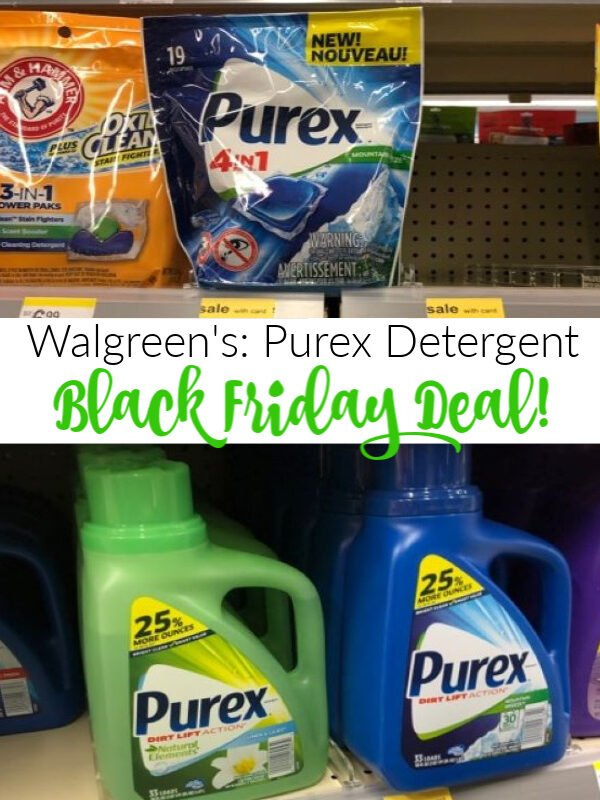 Walgreen's Black Friday: Purex Laundry Detergent Stock Up Price + Toy Deals! *EXPIRED*