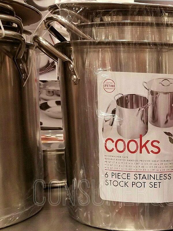 cooks 6 piece stockpot set