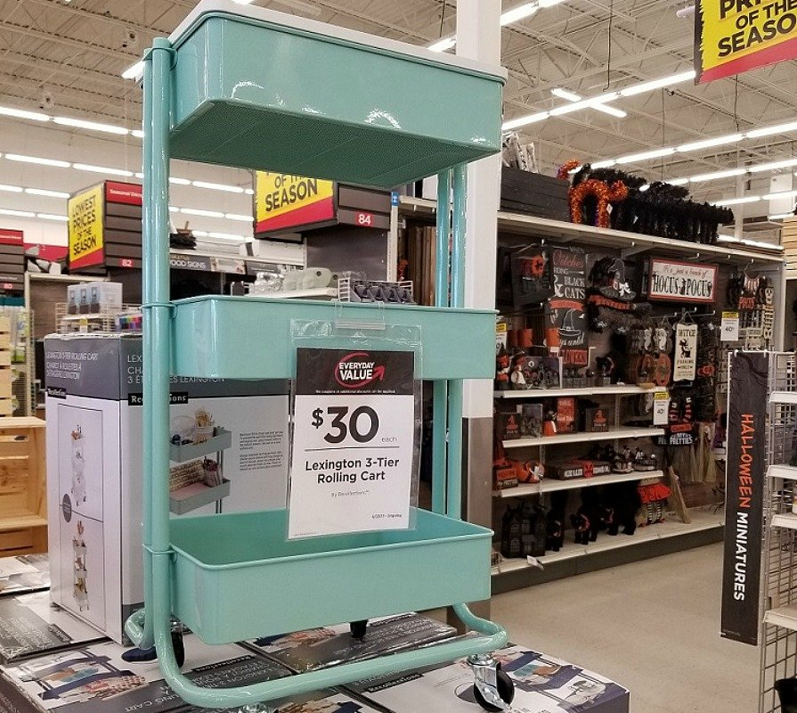 3 tier rolling cart at Michaels