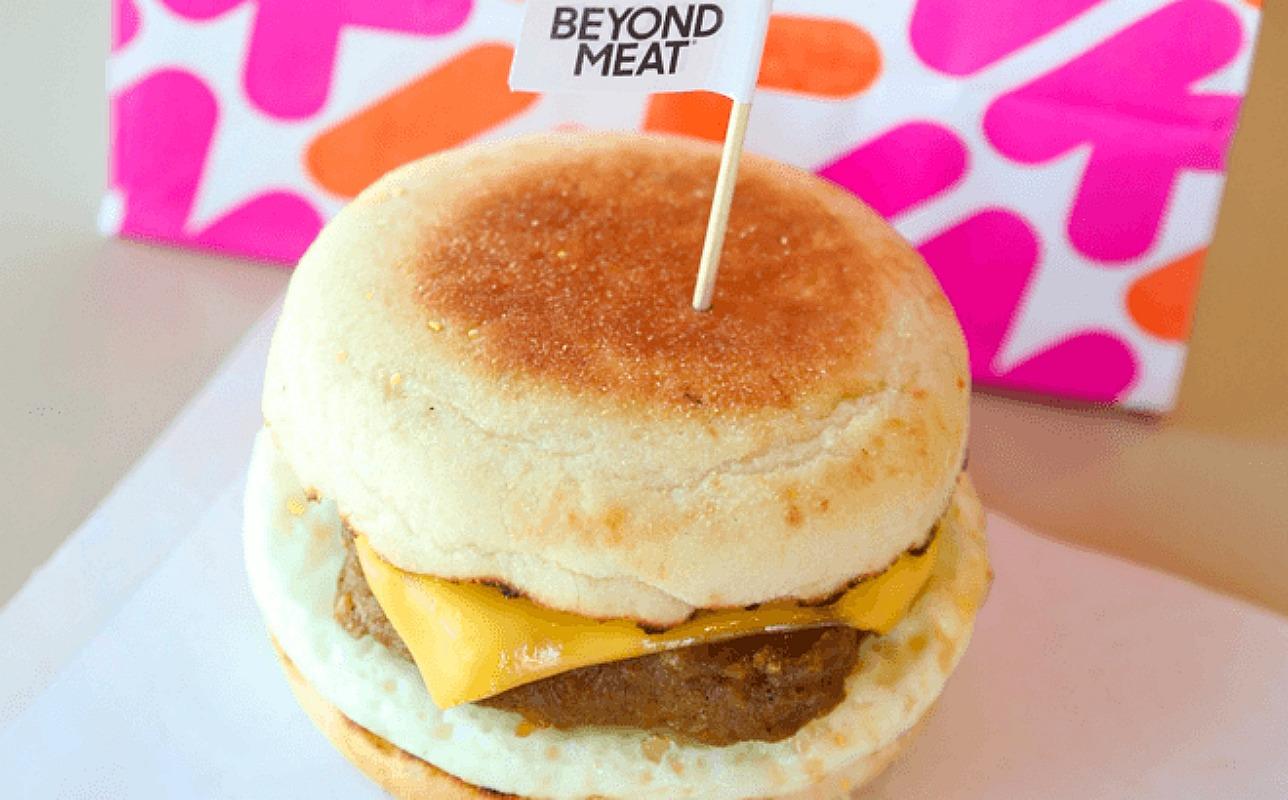 free beyond sausage sandwich at dunkin'