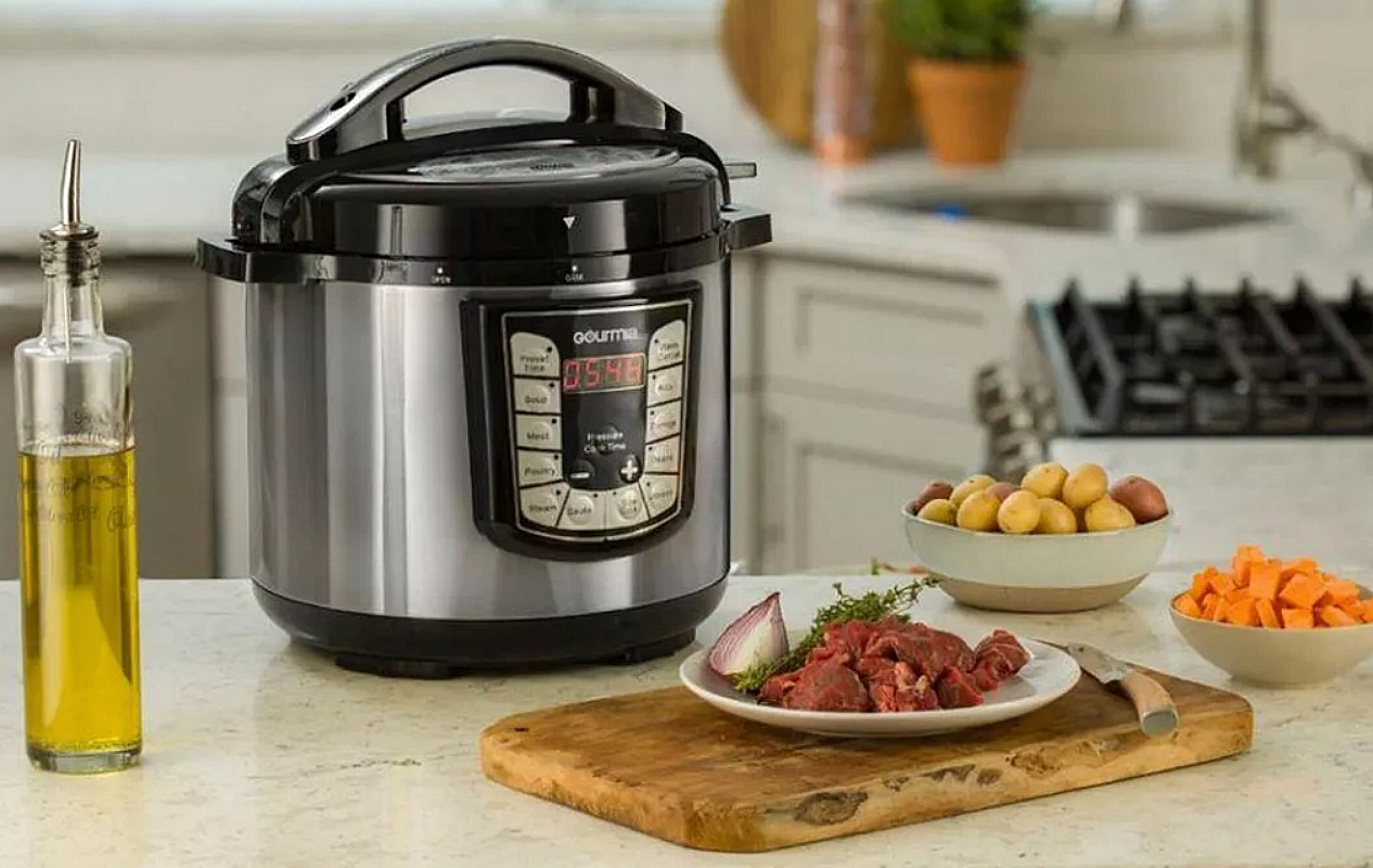 gourmia 6 quart pressure cooker at best buy