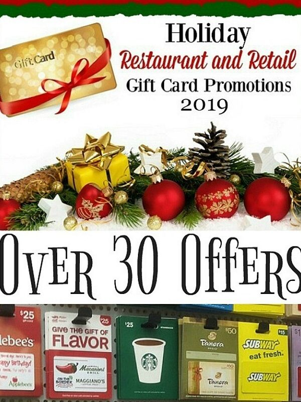 Holiday Gift Card Promotions 2019