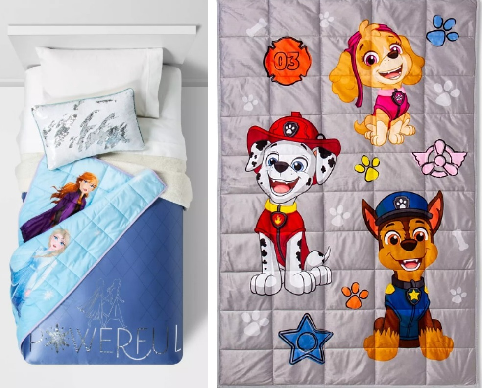 Kids Character Weighted Blankets (5-lb) ONLY $25 at Target (Reg. $40) *EXPIRED*