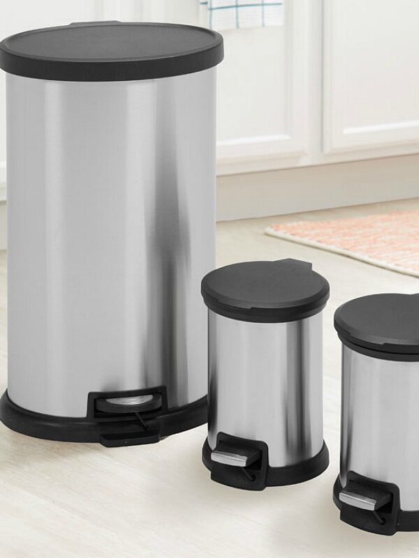 Mainstays 3 Piece Stainless Steel Trash Can Combo Only $25.88 at Walmart (Reg $50)