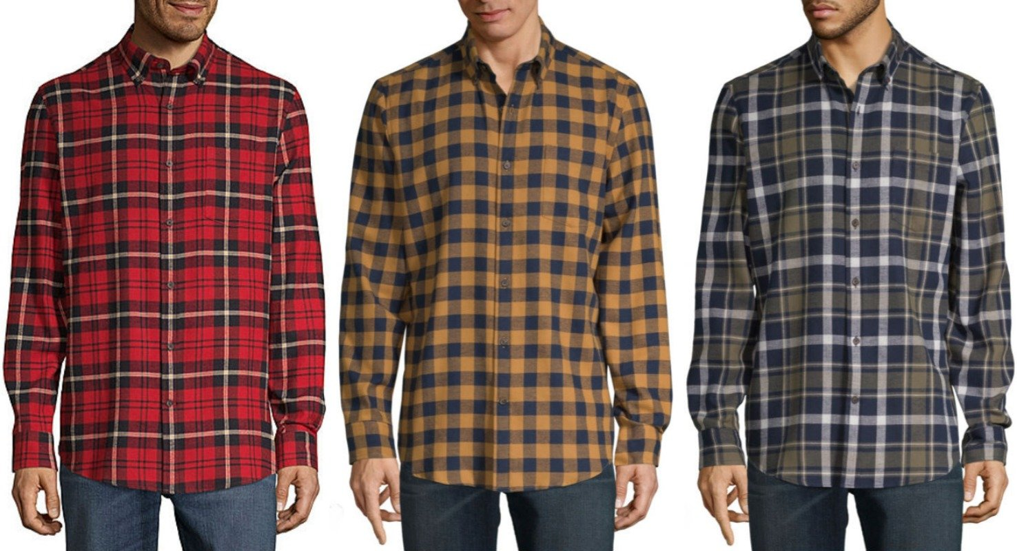 mens flannel shirts at jcpenney