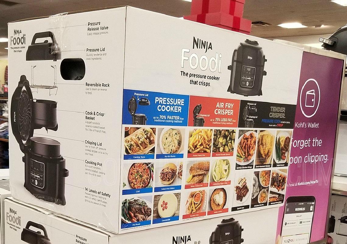 Ninja Foodi Pressure Cooker w/TenderCrisp ONLY $152.99 + Earn $45 Kohls Cash (Reg. $280!)