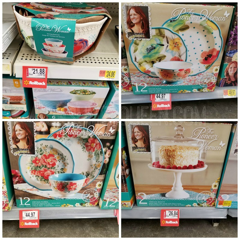 pioneer woman rollback prices at walmart