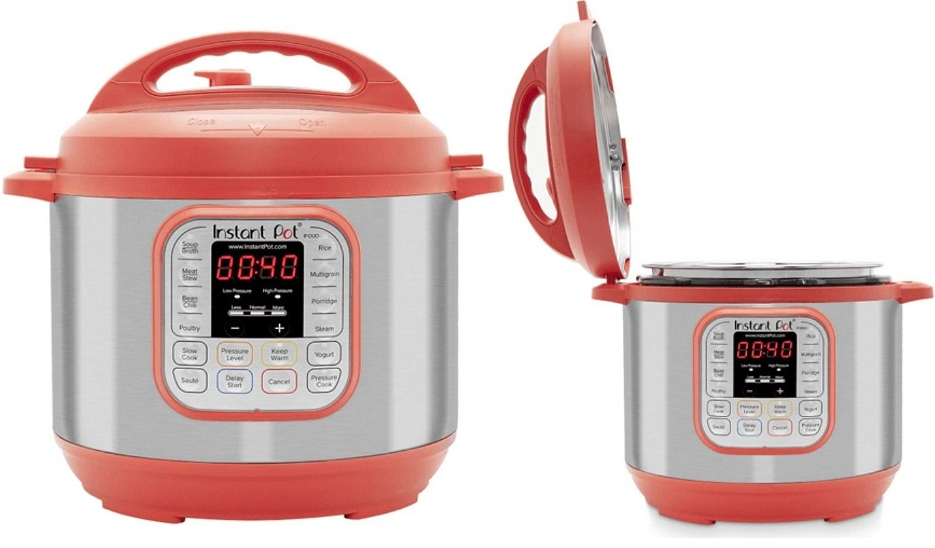 red instant pot 6-quart pressure cooker on amazon