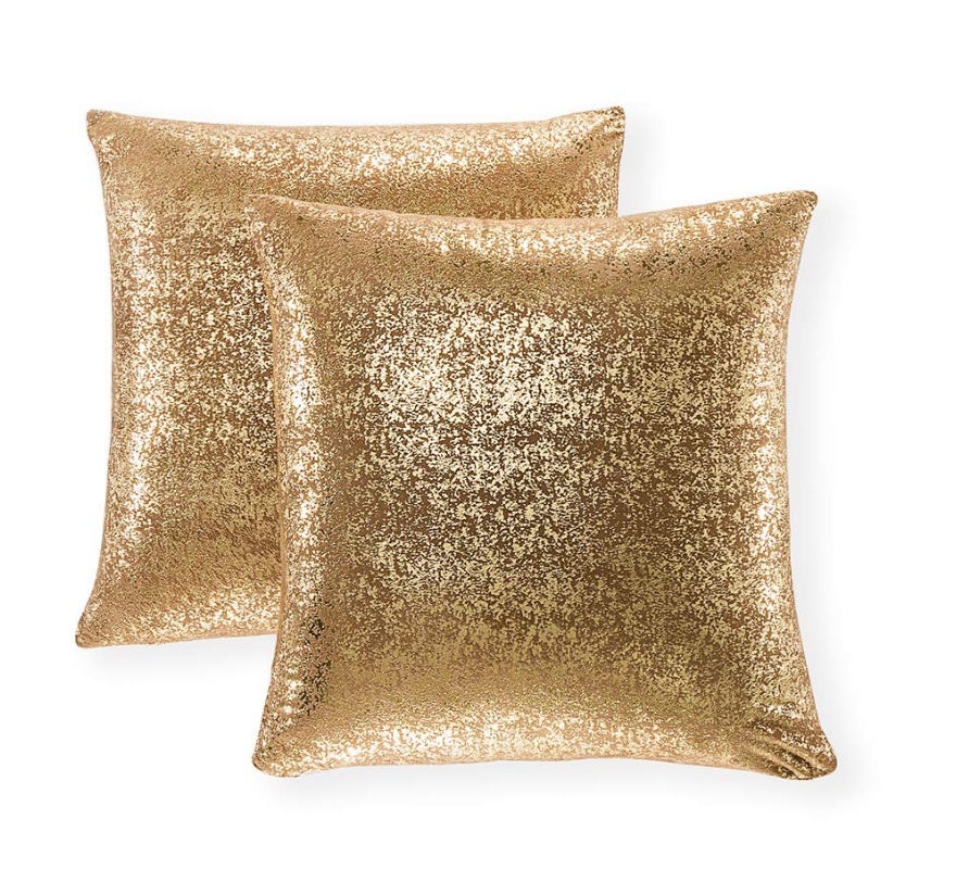 Sparkly Pillow Covers, Set of 2 Suede Cases in multiple colors just $8.49 on Amazon!