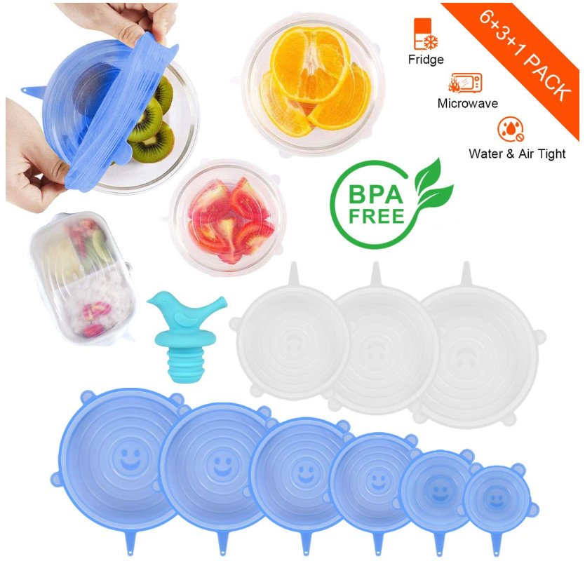 Silicone Stretch Lids, set of 10 in Various Sizes just $7.99 on Amazon!