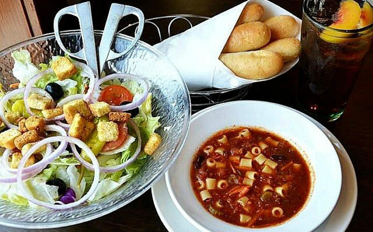 unlimited soup, salad & breadsticks at olive garden