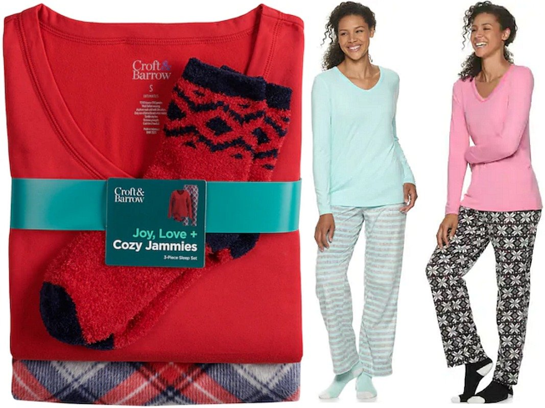 Flannel 3 Piece Pajama Sets With Socks ONLY $13.99 at Kohl's (Reg. $40!) *EXPIRED*