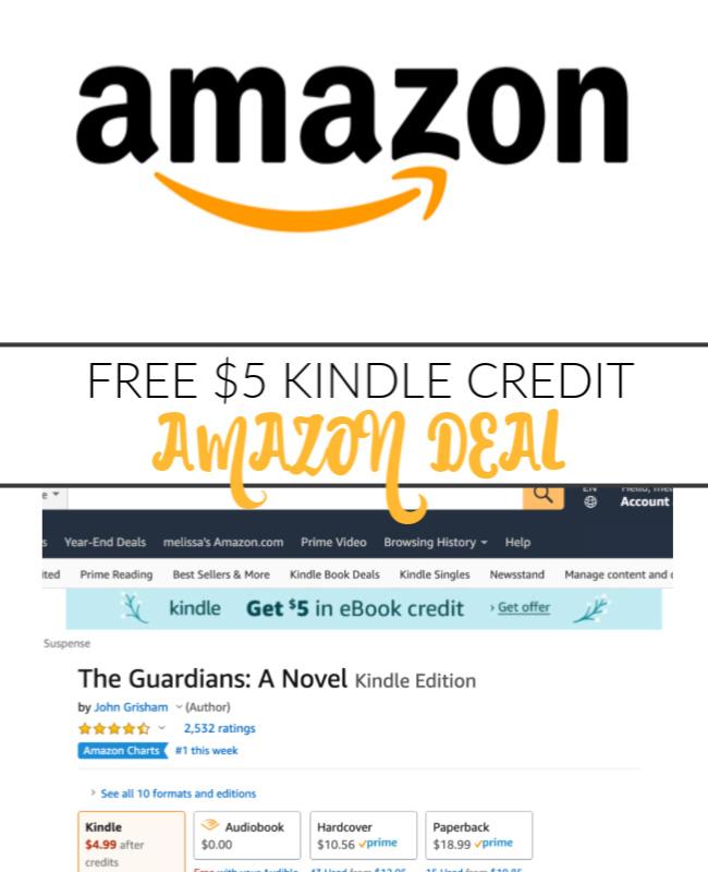 FREE $5 AMAZON KINDLE CREDIT