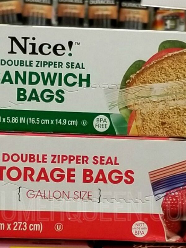Nice! Storage, Freezer & Sandwich Bags 93¢ at Walgreens!