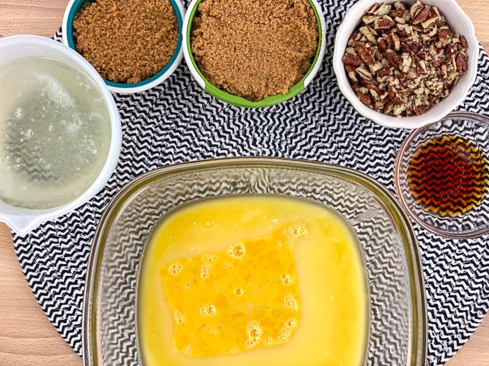 Pecan Pie Cobbler ingredients