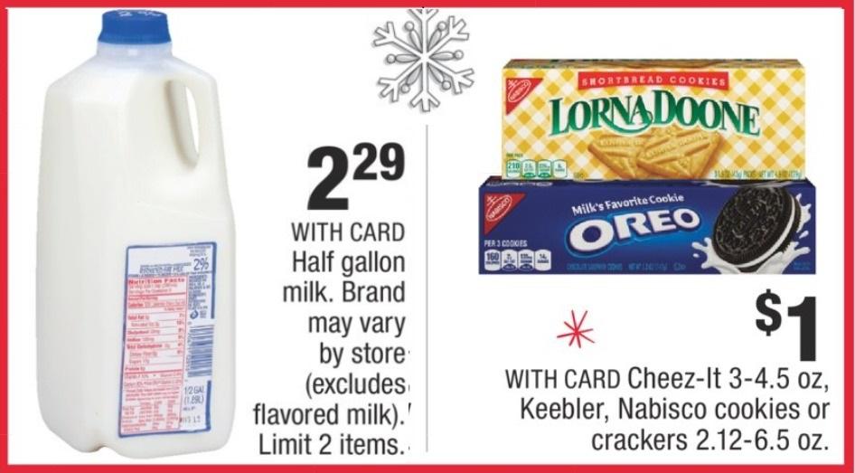 cookies & Milk for santa at CVS