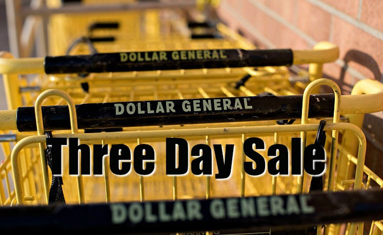 dollar general three day sale