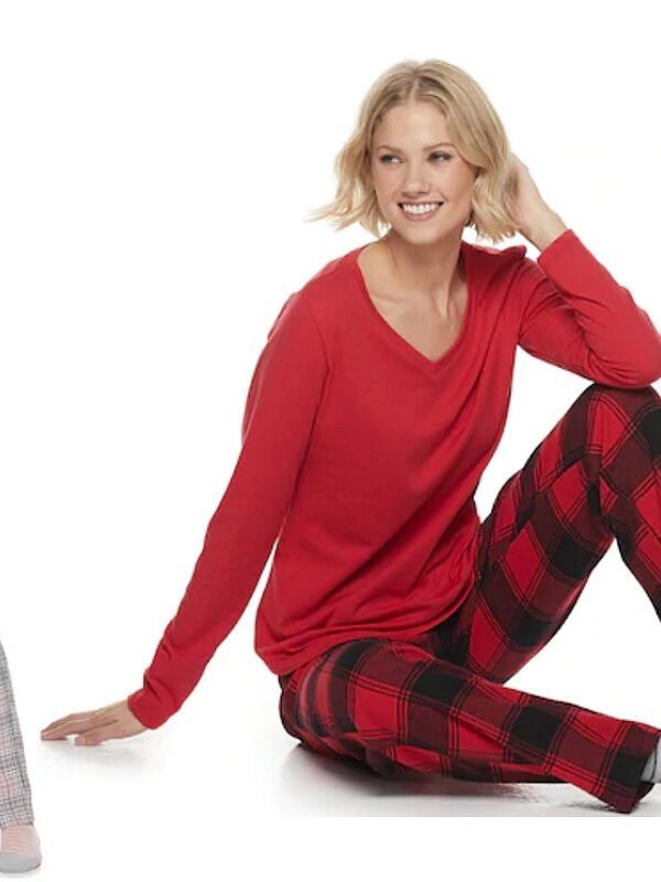 flannel 3 piece pajama sets with socks at kohls