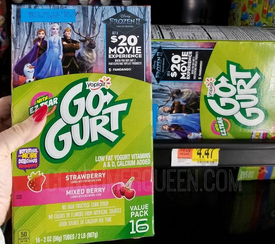 FREE Frozen 2 Movie Ticket + $7 Concessions Money WYB 2 GoGurt at Walmart!