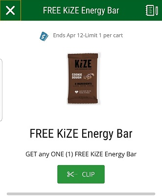 free kize energy bar at sprouts
