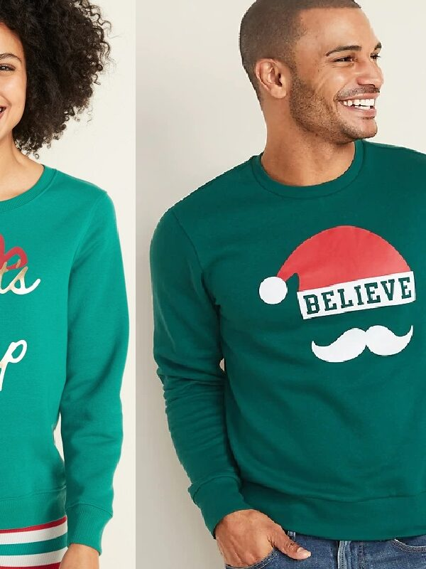 Old Navy Holiday Crew Sweatshirts JUST $7 – Today Only (Reg. up to $35!) *EXPIRED*