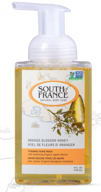 South of France Natural Body Care Orange Blossom Honey Hand Wash