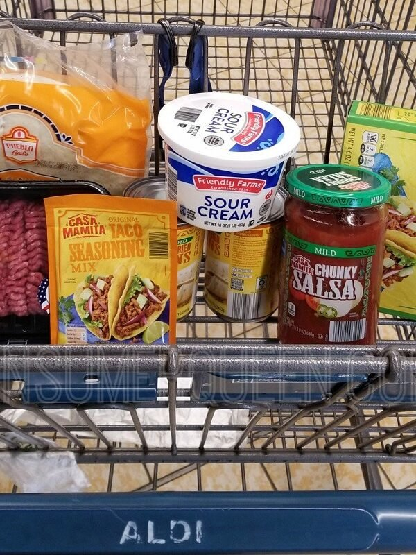 Taco Night for Four + Leftovers Under $11 at Aldi!