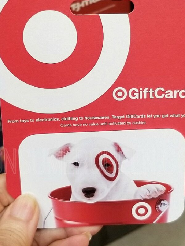 target gift card from PayPal