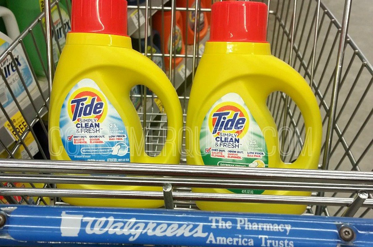 tide simply, bounce & downy at walgreens