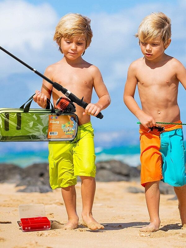40 piece kids fishing pole set