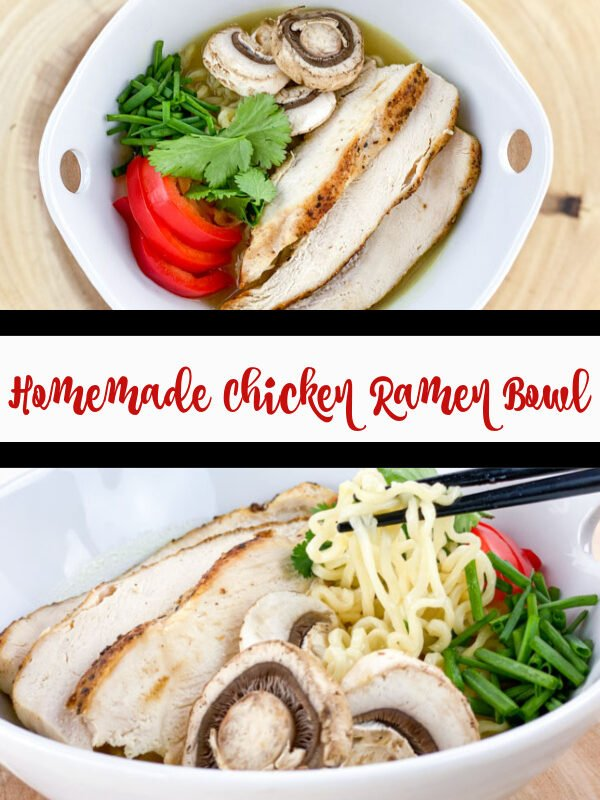 Homemade Ramen Bowl with Chicken