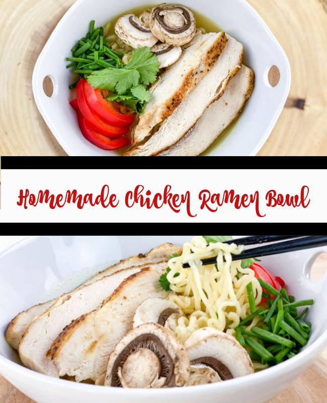 Homemade Ramen Bowl with Chicken