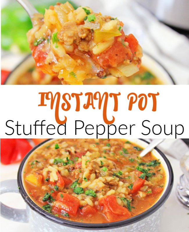 Instant Pot Stuffed Pepper Soup Pinterest