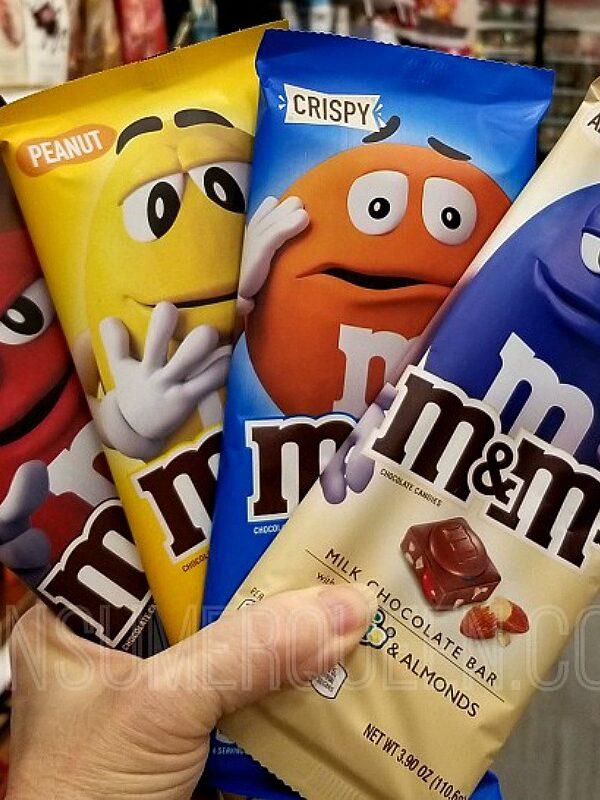 M&Ms chocolate bars