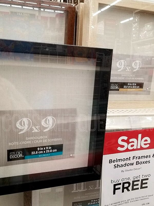 Belmont Shadow Boxes and Frames Buy 1, Get 2 FREE at Michaels