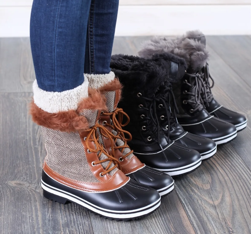 luxe duck boots