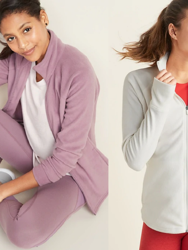 microfleece full zip jackets at old navy