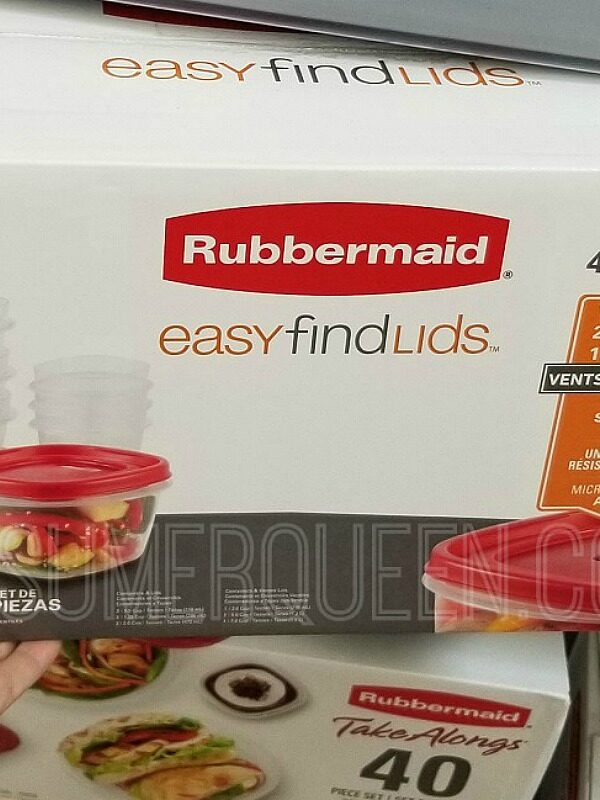 rubbermaid easy find lids food storage