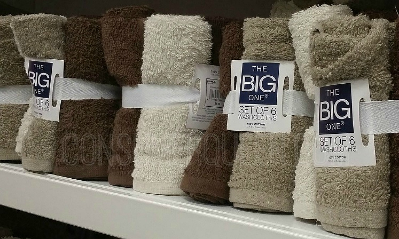 solid big one washcloths at kohls