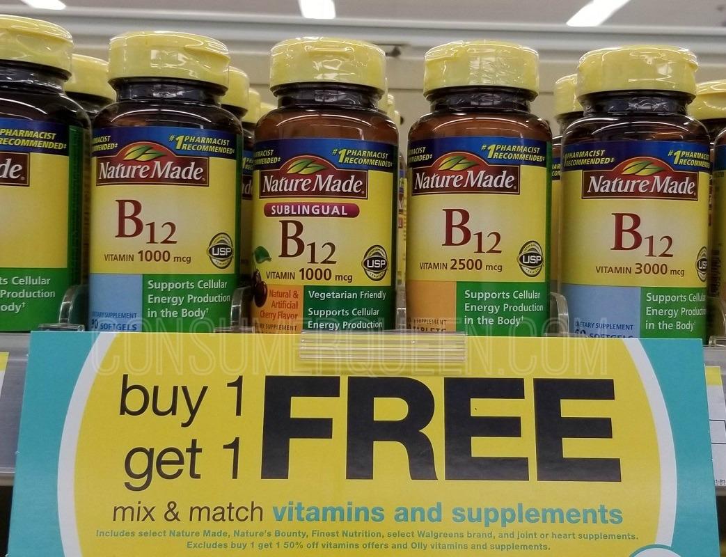 Nature Made Vitamins BOGO Free at Walgreens – Starting at $2.15!