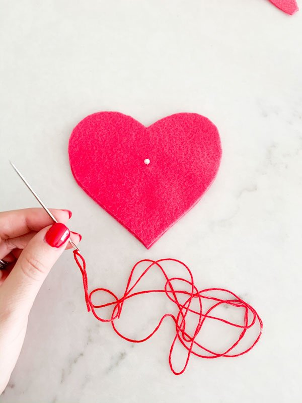 DIY Valentines Felt Hearts  5