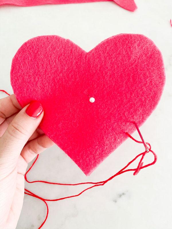 DIY Valentines Felt Hearts  6