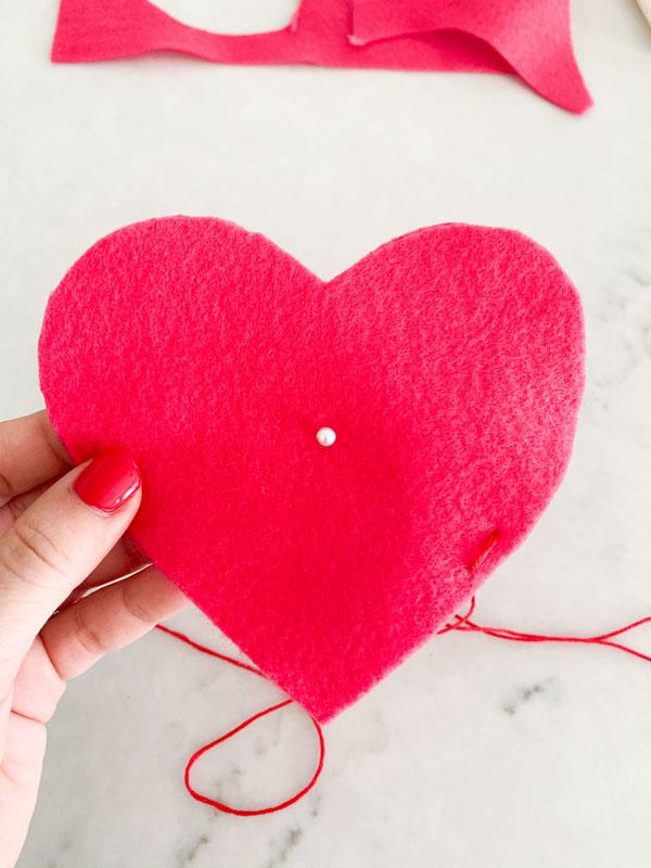 DIY Valentines Felt Hearts  8