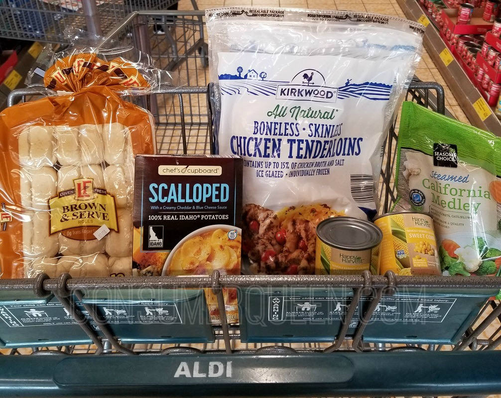 chicken dinner for four at aldi