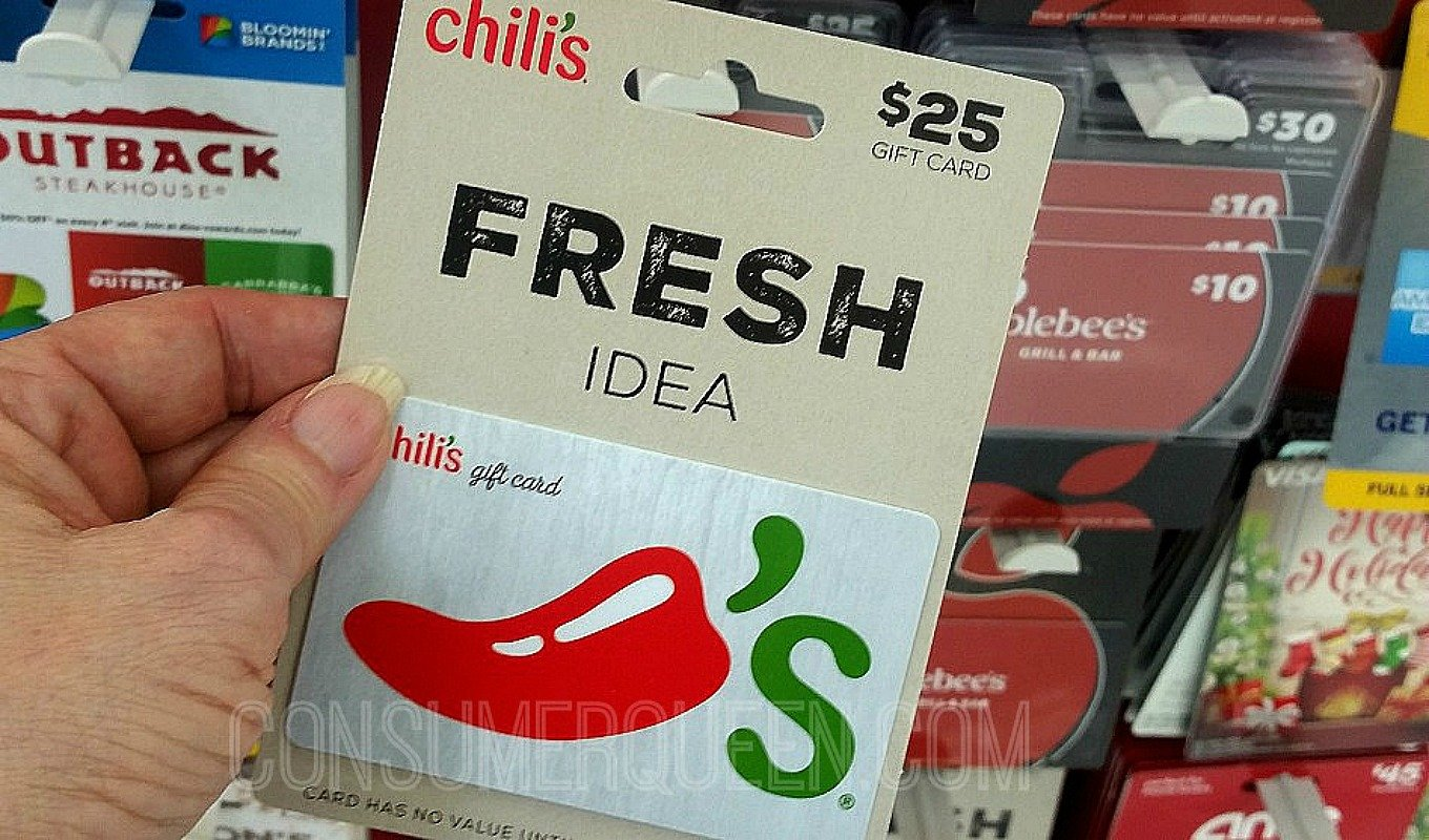 FREE $10 Walgreens Gift Card WYB 2 Chili's, Bass Pro Shops, Cabelas & More!