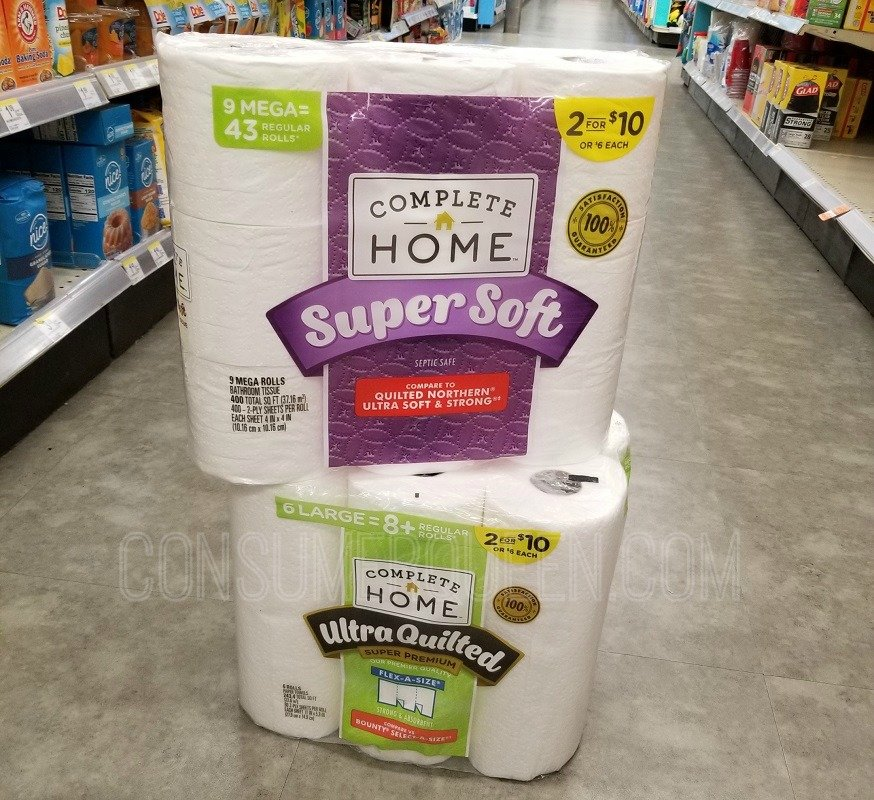 Complete Home 9 Mega Roll Bath Tissue ONLY $4 at Walgreens!