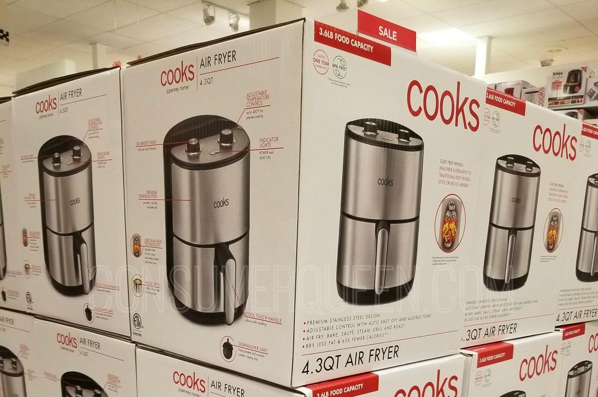 Cooks 4 Quart Air Fryer JUST $44.99 at JCPenney (Reg. $180!)