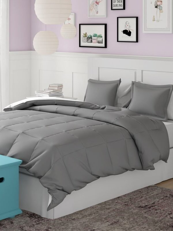 down alternative reversible comforter set