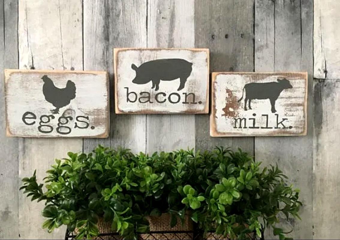 Farmhouse Kitchen Sign Set $19.99 + FREE Shipping (Reg. $25) *EXPIRED*